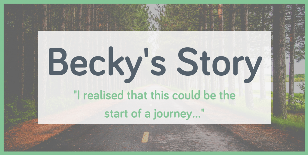 Becky's Wellspring counselling journey