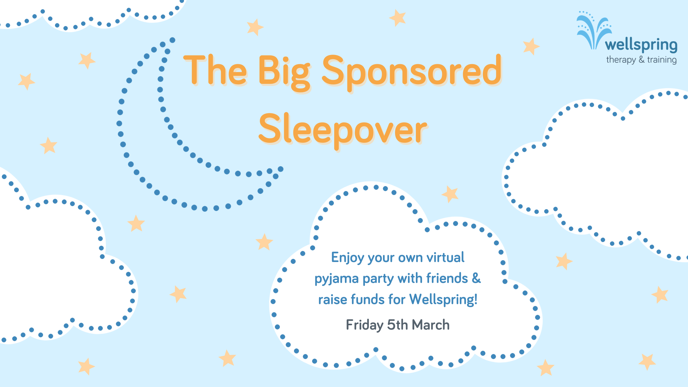 The Big Sponsored Sleepover for Wellspring