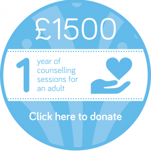 Sponsor 1 year of adult counselling session button, Wellspring Harrogate
