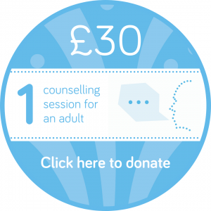 Sponsor a counselling session button, Wellspring Harrogate