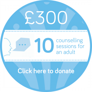 Sponsor 10 adult counselling session button, Wellspring Harrogate