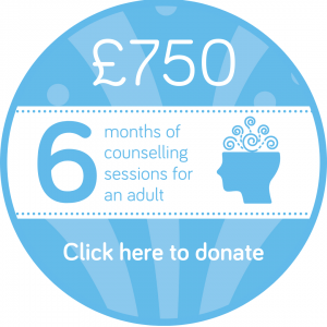 Sponsor 6 months of adult counselling session button, Wellspring Harrogate